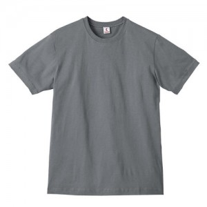 Canvas 100% Ringspun Cotton Short Sleeve Crewneck  T-shirt - ASPHALT