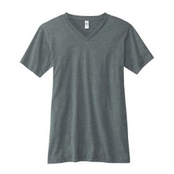 Canvas 100% Ringspun Cotton Short Sleeve VNeck T-shirt - DEEP HEATHER