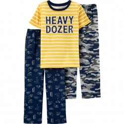 4 to 7 Boys Carters 3 PC Pajama Set