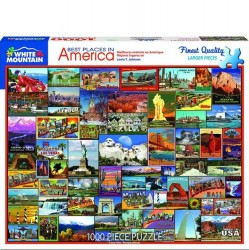 White Mountain 1000 pc Puzzle - Best Places in America