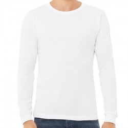 Canvas 100% Ringspun Cotton Long Sleeve T-Shirt - WHITE