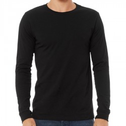 Canvas 100% Ringspun Cotton Long Sleeve T-Shirt - BLACK