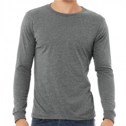 Canvas 100% Ringspun Cotton Long Sleeve T-Shirt - DEEP HEATHER