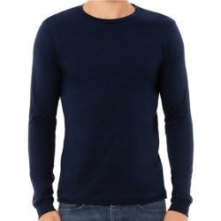 Canvas 100% Ringspun Cotton Long Sleeve T-Shirt - NAVY