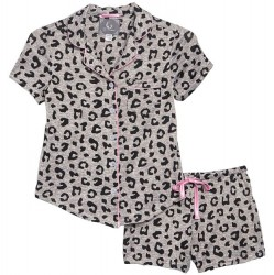 Short Pajama Set - Leopard