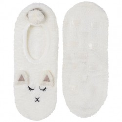 Marshmallow Footlet with Grippers - Lamb
