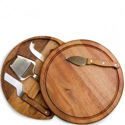 5 PC Acacia Cheese Board Set
