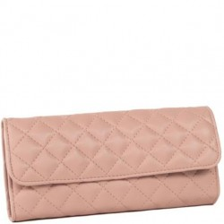 Travel Jewelry Quilted Pouch - Pink