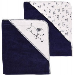 2 Pack Hooded Towel Set - Puppy Toile