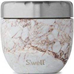 S'well Eats 2-in-1 Nesting Food Bowl - Calacatta Gold