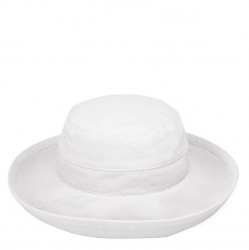 Wallaroo Casual Microfiber Traveler Hat - White