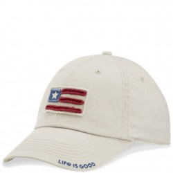 Life is Good Cap - Flag in Bone