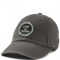 Life is Good Cap - Logo in Slate Grey