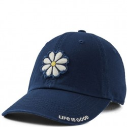 Life is Good Cap - Daisy in Dark Blue