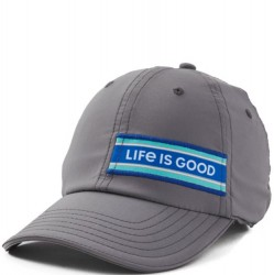 Life is Good Cap - Stripes in Grey