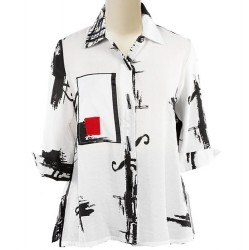 Abstract Color Block Swing Shirt