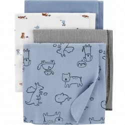 Carters 4 Pack Receiving Blankets - Animals