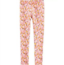 4 to 6X Girls Carters Pink Floral Legging