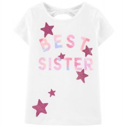 4 to 6X Girls Carters Short Sleeve BEST SISTER Tee