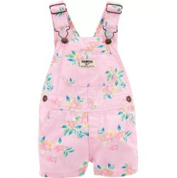 Toddler Girl Carters Pink Floral Shortall