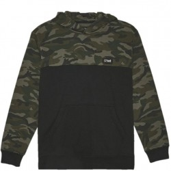 Boys 8 to 20 Hooded Pullover - Camo