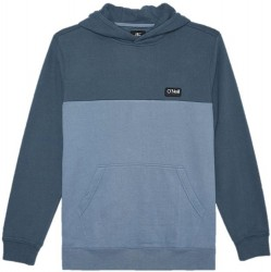 Boys 8 to 20 Hooded Pullover - Blue 2 Tone