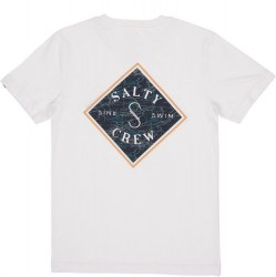 Boys 8 to 20 Salty Crew Short Sleeve T - White