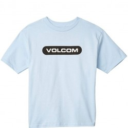 Boys 8 to 20 Volcom Short Sleeve T - Powder Blue