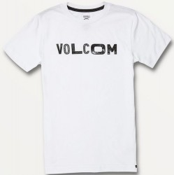 Boys 8 to 20 Volcom Short Sleeve T - White