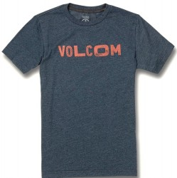 Boys 8 to 20 Volcom Short Sleeve T - Navy Heather