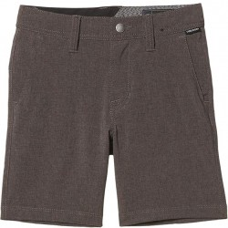 Boys 8 to 20 Volcom Hybrid Short - Charcoal Heather