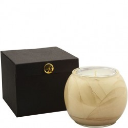 Northern Lights Painted Globe Candle - White