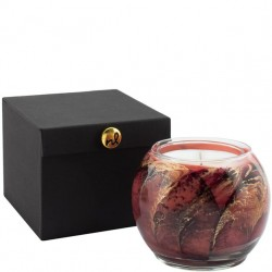 Northern Lights Painted Globe Candle - Peach Nectarine