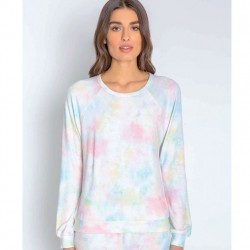 PJ Salvage Tie Dye Long Sleeve Sleep Top