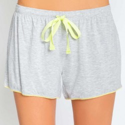 PJ Salvage Yellow Lace Trim Short