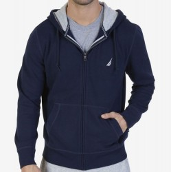Nautica Hooded Zip Front Sweatshirts - Navy