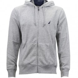 Nautica Hooded Zip Front Sweatshirts - Grey Heather