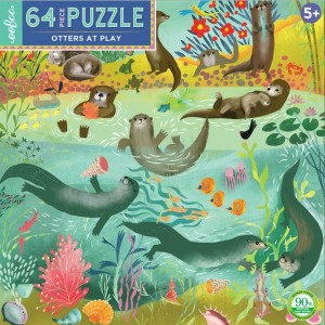 Eeboo 64 pc Puzzle - Otters At Play