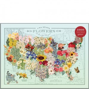 Gallison 1000 pc Puzzle - USA State Flowers