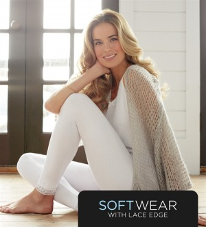 Cuddl Duds Softwear With Lace Edge Long Pant Style #CD8612035