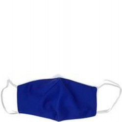 2 Pack Cotton Lined Face Mask - Royal Blue Solid