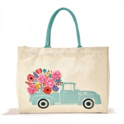 Canvas Tote Bag - Vintage Pickup Truck