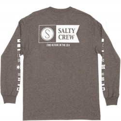 Salty Crew Long Sleeve T-Shirt - Charcoal Heather