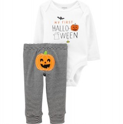 Infant Carters 2 pc My First Halloween Bodysuit Set