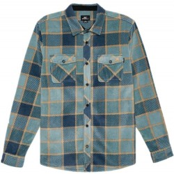 Boys 8 to 20 O'Neill Plaid Super Fleece Shirt - Navy