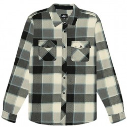Boys 8 to 20 O'Neill Plaid Super Fleece Shirt - Black