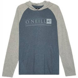 Boys 8 to 20 O'Neill Lightweight Hooded Pullover - Heather Dark Blue