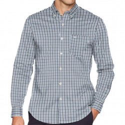 Dockers Long Sleeve No-Wrinkle Shirt  with Stretch - Navy Gingham