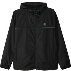 Boys 8 to 20 O'Neill Hooded Windbreaker - Black