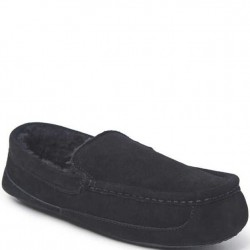Dearfoam Genuine Suede Slipper - Black